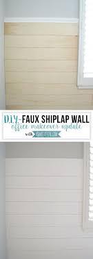 diy faux shiplap wall