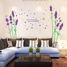Small Picture Buy Decals Arts 3d Beautiful Purple Lavender Wall Stickers Online