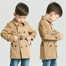 boys girls trench solid jacket gentleman style coat for 2 8 years children kids clothes