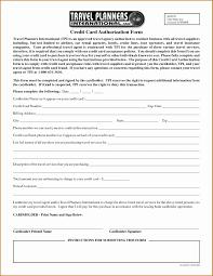 Sample Credit Card Authorization Form Quoet 5 Credit Card