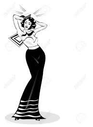 セクシーな女性セーラー ピンナップ レトロ ポスターのベクトル クリップ アート イラスト