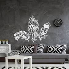 feather wall decal vinyl wall sticker feathers art decals tribal boho bohemian bedroom living room home decor wall stickers removable wall art removable