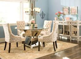 Charming Decoration Tufted Dining Room Sets Amazing Idea Elegant - Tufted dining room chairs sale
