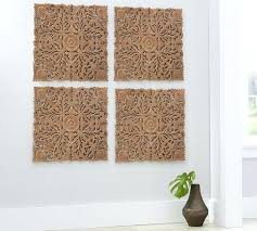 carved wood wall art dazzling design wooden wall art panels home decor ideas ornate carved wood panel set of 4 pottery barn with birds carved wood wall