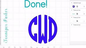 Monogram Font On Cricut Design Space Circle Monogram Font Cricut Design Space App Tutorial