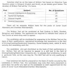 Attendant Sheet Supreme Court Junior Court Attendant Answer Key 2019 Chamber
