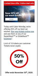 petro canada 50 off car wash tickets