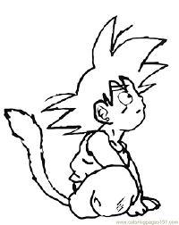 Small Picture Goku 8 Coloring Page Free Goku Coloring Pages ColoringPages101com