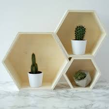 Nest Of Geometric Wall Shelves Or Display Boxes