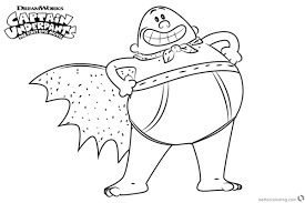 Proud Captain Underpants Coloring Pages Free Printable Coloring Pages