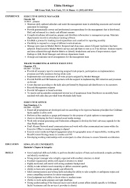 Famous Office Executive Resume Sample Pictures Inspiration Entry