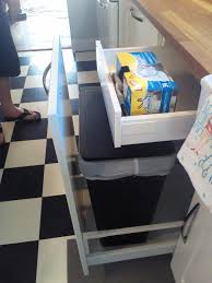 Kitchen Waste Bin Door Mounted How Ikea Trash Bin Cabinets Affect Your Kitchen Design