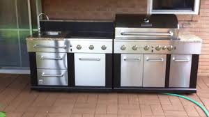 Modular Outdoor Kitchen Units Master Forge Modular Gas Grill Youtube