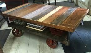 image of rustic industrial coffee table legs