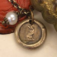 details about strong vint rooster bird tiny pendant necklace antique wax seal jewelry