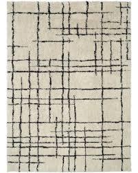 black and cream rug. Linear Shag Area Rug Cream (Ivory)/Black (9\u0027 X 12\u0027 Black And K