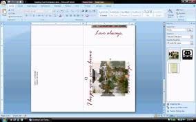 Ms Word Tutorial Part 2 Greeting Card Template