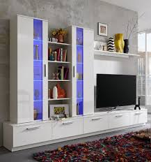 White Gloss Living Room Furniture Sets Rhombus Living Room Set In White High Gloss Fronts With