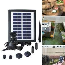 Solar Water Pump Kit With Led Lights Amazon Com Zdylm Y Solar Fountain Water Pump Kit 2 8w With