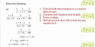 equation reducible to quadratic form tessshlo solving fractional equations that can be reduced to quadratic