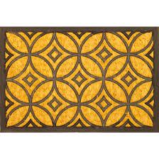Decorating coir door mats pics : Art Deco Coir Rubber Door Mat
