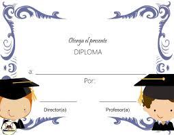 Diplomas Para Completar Personificar Gratis Fichas Escolares