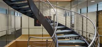design in glass and steel glass stairs at vector