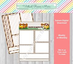 Weekly Newsletter Template Cool November Newsletters Monthly Or Weekly Newsletter Templates Etsy