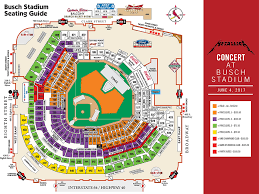 Metallica Seating Chart Busch Stadium Seat Map Map 2018