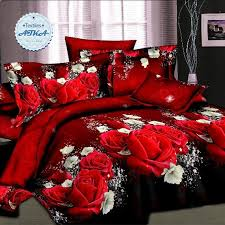 whole hot 3d bedding sets duvet cover set queen twin king bed set red rose nice bedclothes romantic 2 black and white duvet comforter queen from