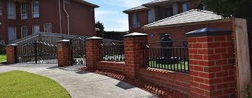 brick fences. Modren Brick Custom Brick Fences To N