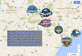 Smokies Baseball Stadium Seating Chart Previewing My Trip Through The Carolinas Steven On The Move