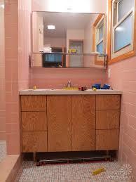 mid century modern bath vanity