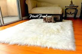 mongolian fur rug curly faux white