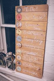 diy order of the day sign using a wooden palette