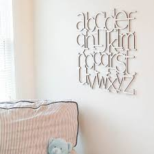 wood alphabet letters wall art
