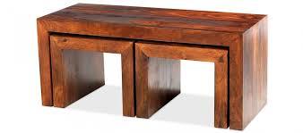 Cube Sheesham Long John Coffee Table   Quercus Living in Sheesham Coffee  Tables (Image 5