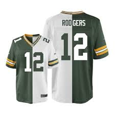 Elite 12 Football Green Packers Jersey Rodgers Bay Aaron - white Split Men's Green Fashion