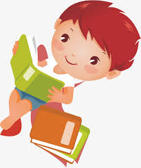 lying boy reading a book reading book cartoon characters png and vector