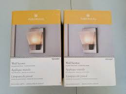 2 pack brushed nickel pocket wall sconce 1 light frosted glass shade portfolio from portfolio
