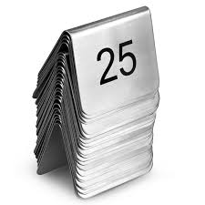 Stainless Steel Table Numbers Set 1 25