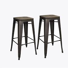 distressed metal bar stools. perfect stools abbie home 30 inch bronze backless metal counter height indoor bar stools  set of 2 with wood seat on distressed d