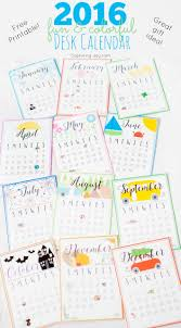 2016 fun and colorful free printable desk calendar makes a great gift idea reminder