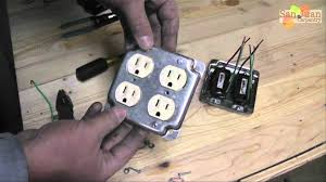 outlet receptacle wire up how to youtube wiring a plug with two wires at Proper Wiring Of A Plug