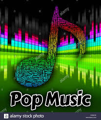 Mexican Pop Charts Pop Music Representing Sound Tracks And Songs Stock Photo