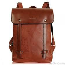 retro locomotive artificial leather backpack school bag