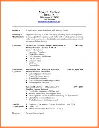 5 Medical Assistant Resume Objective Sample Statement Synonym