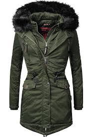 marikoo women s coat winter parka vegan made 5 colours camouflage s l