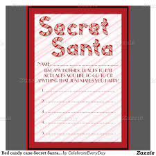 red candy cane secret santa customizable ballots paper invitation card re eb zknhe frlvnet template relevant