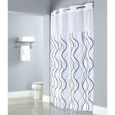 hookless fabric shower curtain waffle